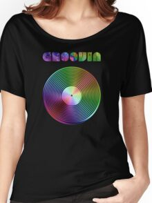 Groovin - Vinyl LP Record & Text - Metallic - Rainbow Women's Relaxed Fit T-Shirt