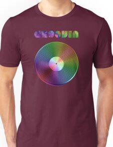 Groovin - Vinyl LP Record & Text - Metallic - Rainbow Unisex T-Shirt