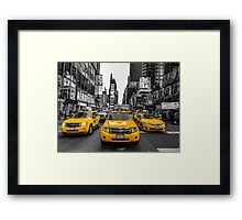 Taxis on Broadway Framed Print