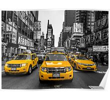 Taxis on Broadway Poster