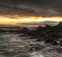 Ragged Rocks, Ballymacotter by Robert Karreman