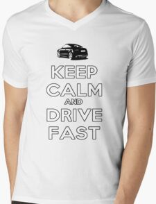 Keep Calm And Drive Fast Mens V-Neck T-Shirt