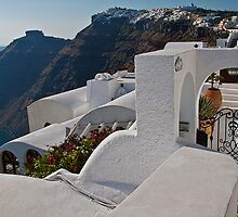 Greece. Santorini. Looking at the village of Oia. by vadim19