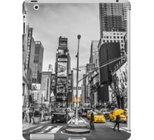 Traffic signal on broadway iPad Case/Skin
