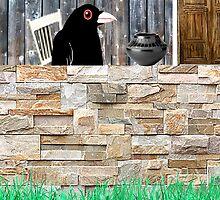 """Blackbird Studying Pottery"" by Patrice Baldwin"