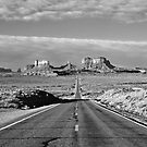 Highway to Monument Valley by Alex Cassels