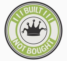 Jdm built not bought badge - green Kids Clothes