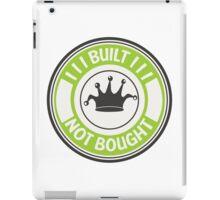 Jdm built not bought badge - green iPad Case/Skin