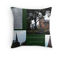 Church Collage Throw Pillow