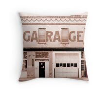 Ga ra ge Throw Pillow