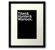 Helvetica Destiny Starting Classes Framed Print