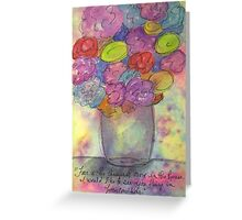 Let Go Of Fear Greeting Card