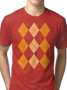 Orange Argyle Tri-blend T-Shirt