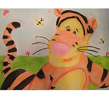 Tiggerific in chalk pastel Photographic Print
