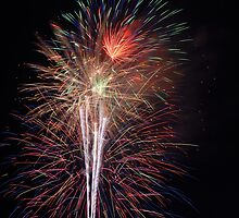 Fireworks - Waterford NY USA by John Schneider
