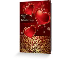 Deluxe Valentine Card Greeting Card
