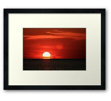 Early Red Sunset Framed Print