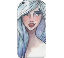 The Girl with the Azure Hair iPhone Case/Skin