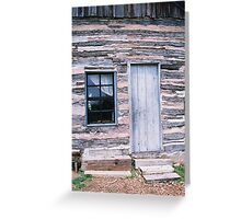Entrance to 18th Century Log House Greeting Card