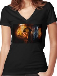 Palin, The Face Of The New Revolution Women's Fitted V-Neck T-Shirt