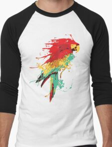 Splash The Parrot.. Men's Baseball ¾ T-Shirt