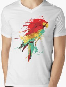 Splash The Parrot.. Mens V-Neck T-Shirt