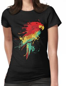 Splash The Parrot.. Womens Fitted T-Shirt