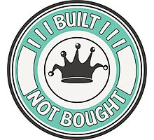 Jdm built not bought badge - minty Photographic Print