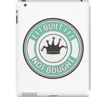 Jdm built not bought badge - minty iPad Case/Skin