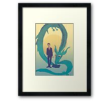 Me  and  the  dragon! Framed Print