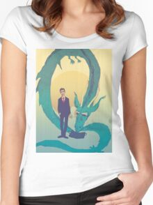 Me  and  the  dragon! Women's Fitted Scoop T-Shirt