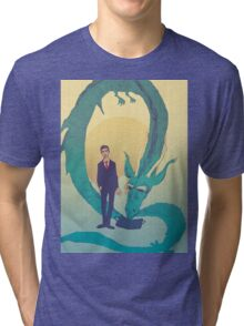 Me  and  the  dragon! Tri-blend T-Shirt