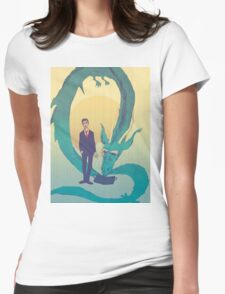 Me  and  the  dragon! Womens Fitted T-Shirt
