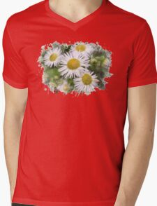 Daisy Watercolor Art Mens V-Neck T-Shirt