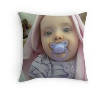 Baby After Bath Throw Pillow
