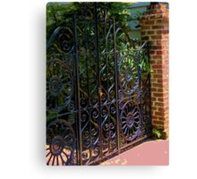 Fenced In- Charleston, SC Canvas Print