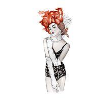 Leila Fashion Illustration Photographic Print