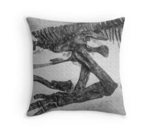 Funky Saurolophus Throw Pillow