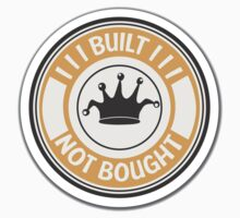 Jdm built not bought badge - orange Kids Clothes