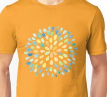 Dewdrops in Blue and Yellow Unisex T-Shirt