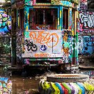 Tram - in colorful a tyre by clydeessex