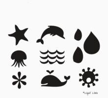 ocean elements 2 Kids Clothes