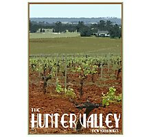 The Hunter Valley Retro Travel Poster Photographic Print