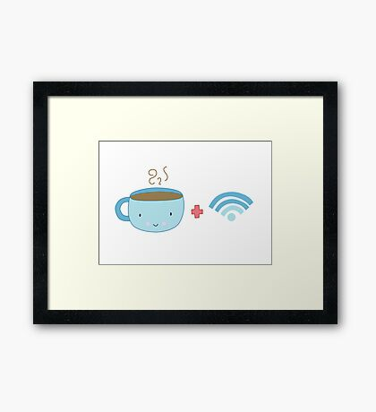Coffee and Wifi Framed Print
