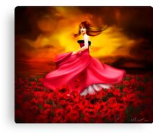 Lady Poppy Canvas Print