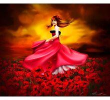 Lady Poppy Photographic Print