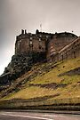 Stormy Day at Edinburgh Castle by Christine Smith