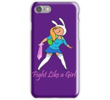 Fight Like a Girl Adventure Time iPhone Case/Skin