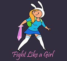 Fight Like a Girl Adventure Time Women's Fitted Scoop T-Shirt
