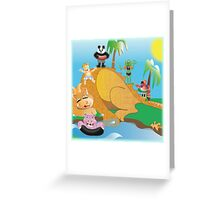 Larravide The Gang at the Watering Hole Greeting Card